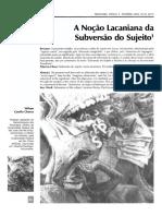 A noção lacaniana da subversão do sujeito..pdf