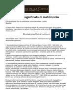 Accademia Della Crusca - Etimologia e Significato Di Ltemgtmatrimonioltemgt - 2014-06-12