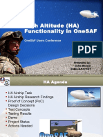 1045 - High Altitude (HA) Functionality in OneSAF UC09 - Morash