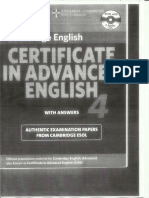 Certificate In Advanced English 4 (CAE Cambridge)