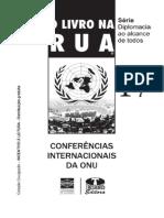 CERVO, Amado - Livro Na Rua - Conferências Interncionais Da ONU