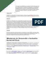 El Ministerio de Desarrollo e Inclusión Social