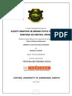 Equity Analysis at Ventura Securities
