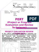 pert and project crashing
