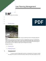 Water Resources Planning Management