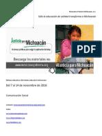 Noticias del Sistema Educativo Michoacano al 14 de noviembre de 2016