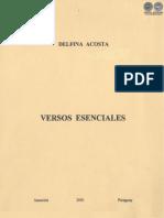 VERSOS ESENCIALES - DELFINA ACOSTA - ANO 2001 - PORTALGUARANI