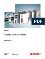 BECKHOFF - CX20x0 (2016)