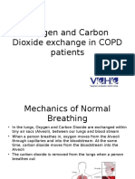 oxygen and carbon dioxide exchange in copd patients
