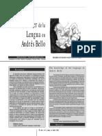 El Saber de La Lengua en Andrés Bello