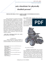 Automatic Wheelchair for Physically Disabled Persons