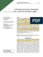 International technology licensing