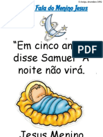 Samuel fala do menino jesus