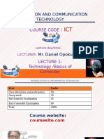 ICT101 Lecture 1 Introduction