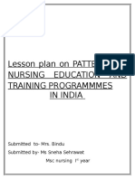 Trends of Nursing Lesson Plan