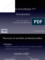 Acoustique1 Introduction