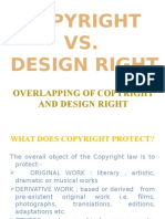 Overlapping of Copyright and Design Right