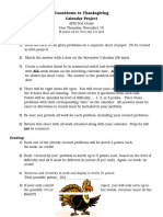 countdown to thanksgiving calendar project instructions