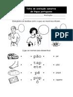 Ditongos e Letra p