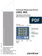 Janitza Manual UMG96 All Versions En