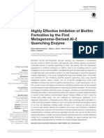 (2) Highly Effective Inhibition of Biofilm Formation by the Frist Metagenome-Derived AI-2 Quenching Enzyme
