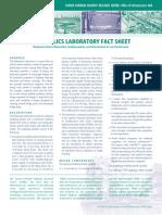Hydraulics Laboratory Fact Sheet
