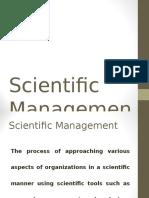 1 Scientific Management 1910 - 1935