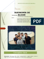 Taxonomia de Bloom. Equipo 9