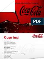 Strategia de Marketing La the Coca Cola Company