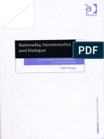 RATIONALITY, HERMENEUTICS AND DIALOGUE. PAUL HEALY