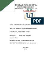 Práctica N° 5 Radiación Solar y Balance de Radiación JAVIER AYZA (ESTE ES)