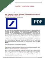 Wie Deutsch Ist Die Deutsche Bank Eigentlich Zeit Fuer Eine Bestandsaufnahme