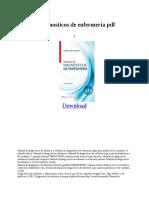 Manual Diagnostic Os de Enfermer i a PDF