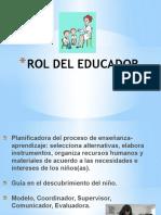 Rol Del Educador