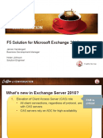 Coffee Talk F5 Solution for Microsoft Exchange 2010 Updated2011april