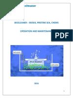 Biocleaner - Manual de Operacion y Mantenimiento