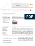 Simulation Analysis of a Novel Fully Depleted SOI MOSFET Electrical