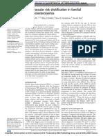Familial hyperlipidaemia risk assessment