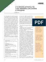 La evaluación de la atención primaria y las hospitalizaciones por ambulatory care sensitive conditions. Marco conceptual