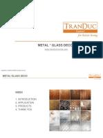 Metal Glass Decor - Tdh