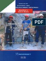Boletin Nº 003- Mineria a Pequeña Escala en La Costa Sur Media Del Perú