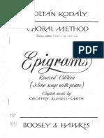 Kodaly - Epigrams
