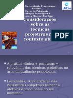 Considerações Sobre as Tecnicas Projetivas No Contexto Atual - Aula 10-09