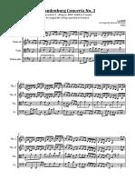 Brandenburg Concert No 3 First Movement Full Score
