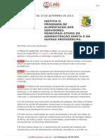 Lei Ordinaria 5010 2013 Passo Fundo RS