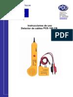 Manual Detector de Cables Cb 180