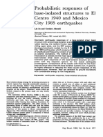 Probabilistic Responses of Base Isolated Structures to El Centro 1940 and Mexico City 1985 Earthquakes 1992