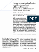 Lateral Strength Distribution Specification to Limit Additional Inelastic Deformation of Torsionally Unbalanced Structures 1992
