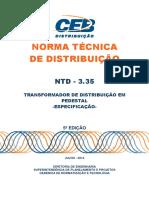 Ntd 3.35 Transformador de Distribuicao Em Pedestal 5a Ed