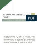 El Enfoque Genetico de Piaget